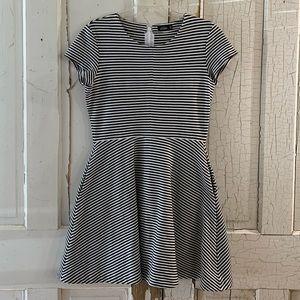 Kate Spade Saturday black and white striped dress